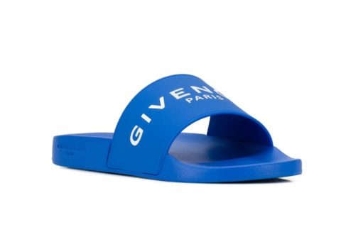 Givenchy Unisex Slippers Met Logo - Blauw/Wit