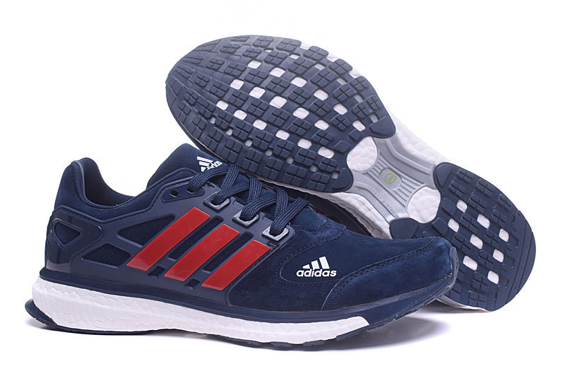 Adidas Ultra Boost Heren Sneakers – Donkerblauw/Rood/Wit