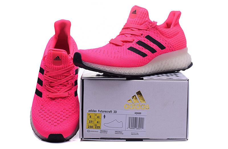 Adidas Ultra Boost Futurecraft 3D Dames Sneakers – Roze/Zwart/Wit