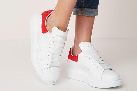 Alexander Mcqueen Oversized Unisex Sneakers - Wit/Rood