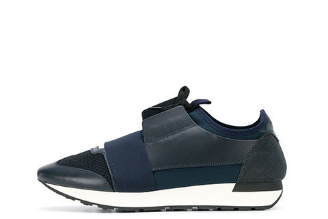 Balenciaga Race Runner Unisex Sneakers - Donkerblauw/Wit