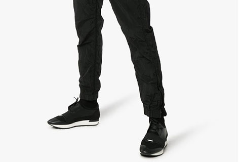 Balenciaga Race Runner Unisex Sneakers - Zwart/Wit