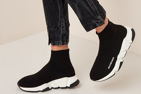 Balenciaga Speed Trainers Unisex Sneakers - Zwart/Wit
