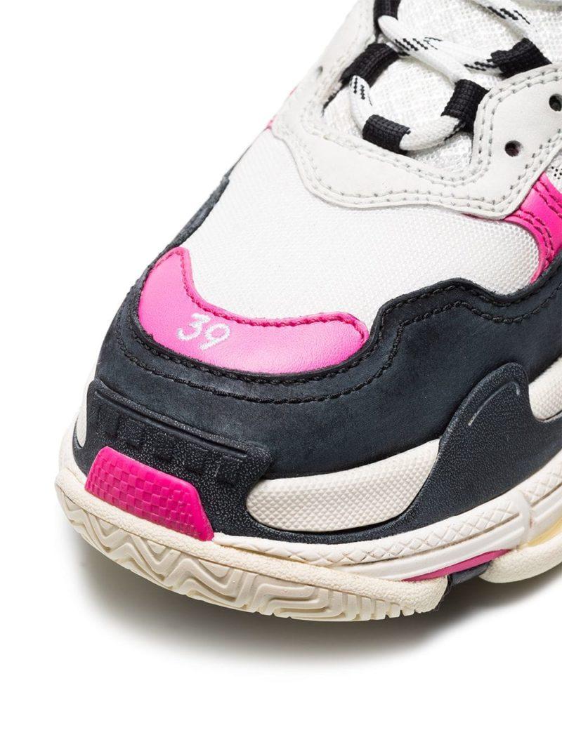 Balenciaga Triple S Unisex Sneakers - Wit/Zwart/Roze