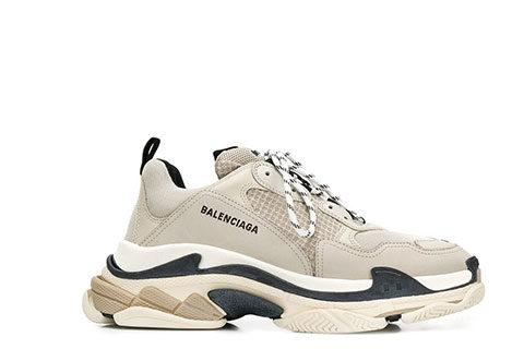 Balenciaga Triple S Unisex Sneakers - Beige/Blauw/Wit