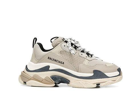 Balenciaga Triple S Unisex Sneakers -  Grijs/Donkerblauw