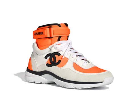 Chanel Trainers Unisex Sneakers - Wit/Oranje/Zwart
