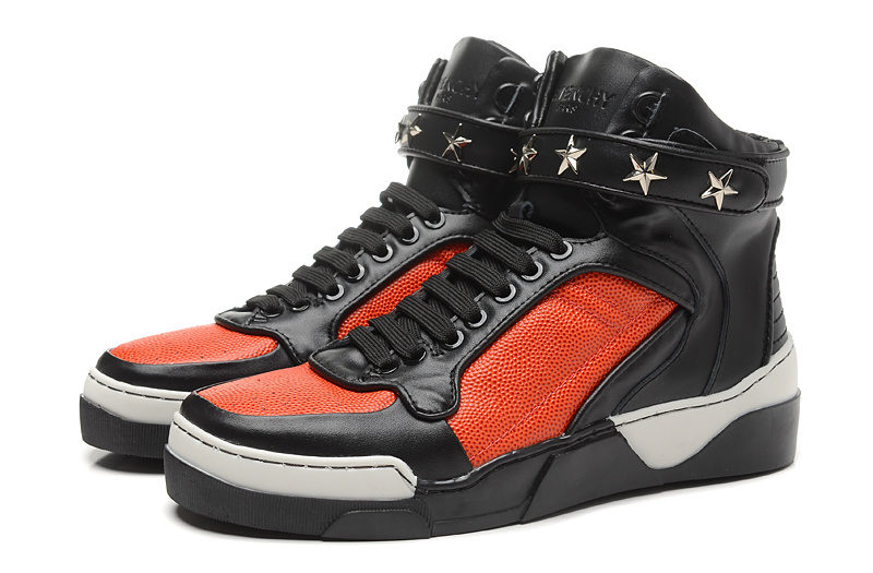 Givenchy Tyson Stars Unisex Sneakers - Rood/Zwart
