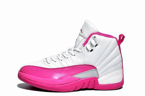 Nike Air Jordan Retro 12 Dames Sneakers - Wit/Roze/Zilver