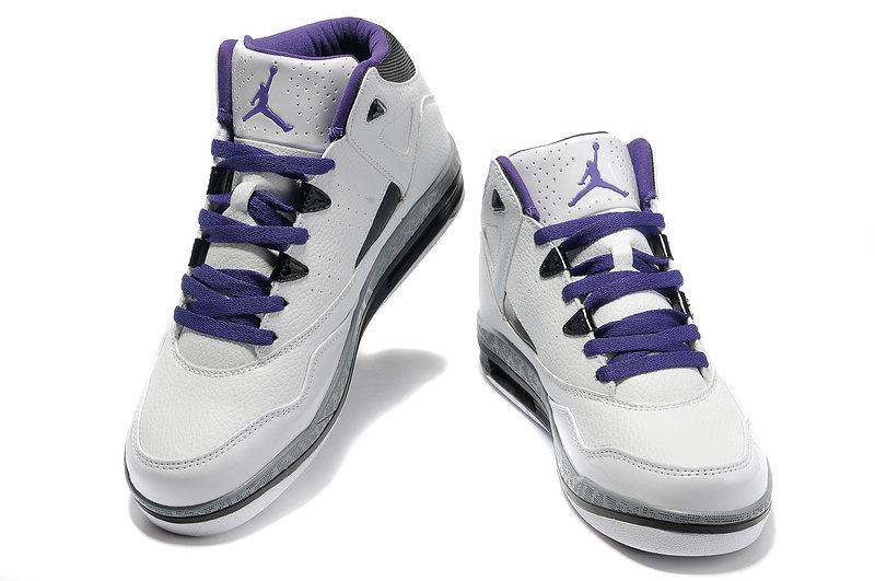 Nike Air Jordan Jumpman H-Series 2 Heren Sneakers - Wit/Zwart/Grijs/Paars