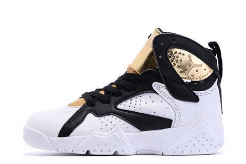 Nike Jordan 7 Retro Kinder Sneakers - Wit/Goud/Zwart