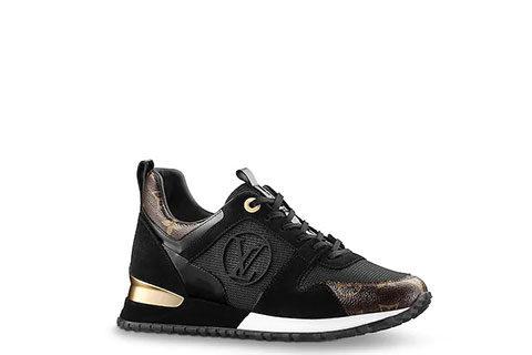 Louis Vuitton run away sneakers zwart/bruin