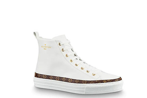 Louis Vuitton Stellar Trainer Unisex Sneakers - Wit/Bruin/Goud