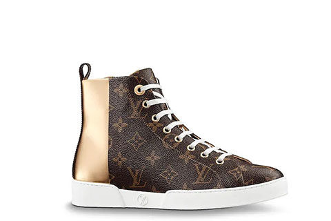 Louis Vuitton Stellar Trainer Unisex Sneakers - Bruin/Goud/Metallic