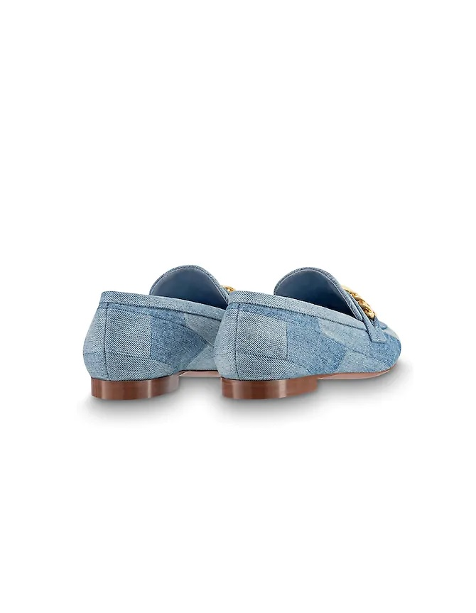 Louis Vuitton Upper Case Dames Instappers - Blauw/Goud