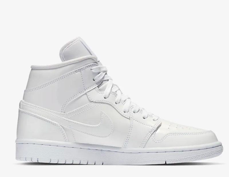Nike air jordan 1 mid dames sneakers wit