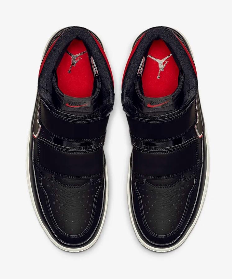 Nike air jordan 1 retro double strap heren sneakers zwart/wit -01