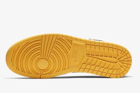 Nike air jordan low 1 heren sneakers zwart/geel