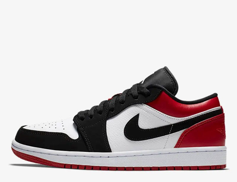 Nike air jordan low 1 heren sneakers zwart/rood