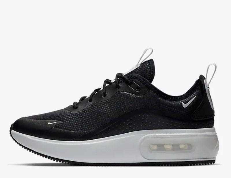 Nike air max dia sneakers zwart/wit
