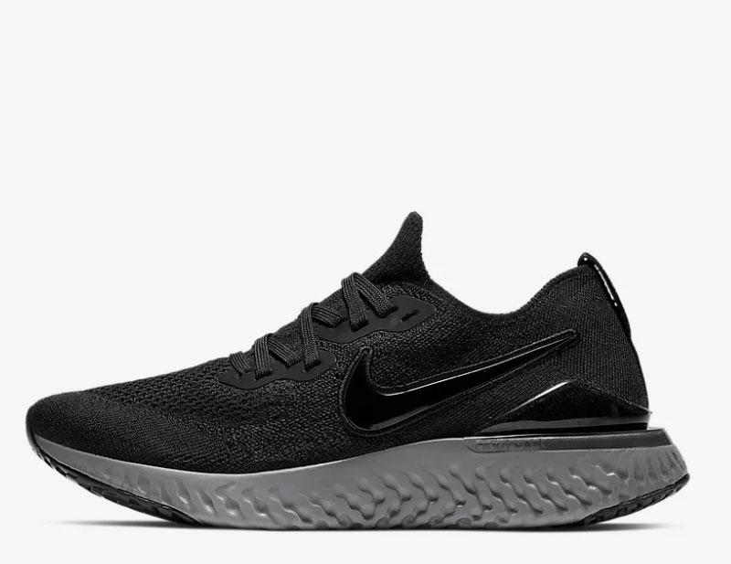 Nike epic react flyknit 2 sneakers zwart/grijs