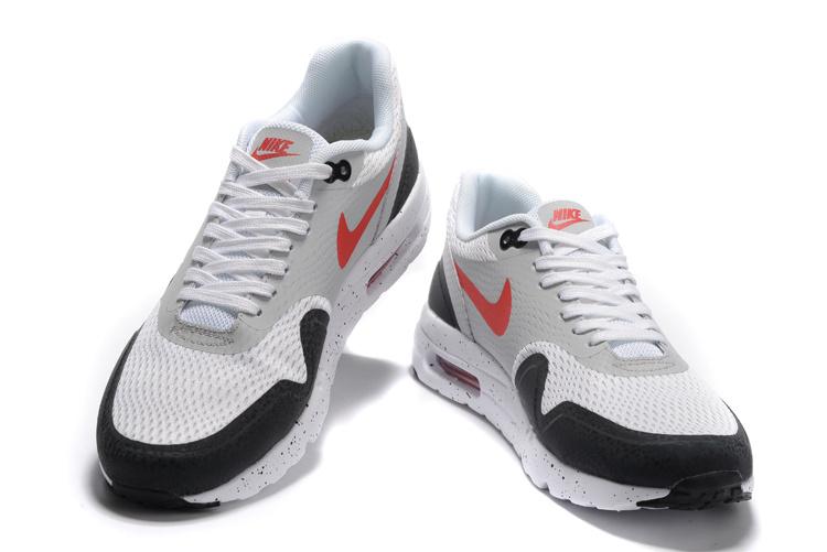 Nike Air Max 1 Ultra Essential Heren Sneakers – Grijs/Wit/Zwart/Rood
