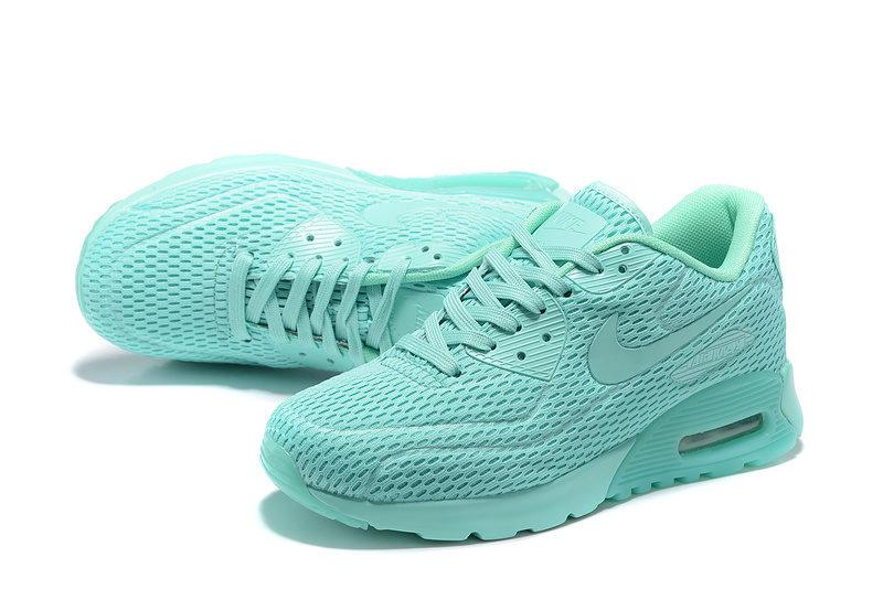 Nike Airmax 90 Ultra Pure Platinum Unisex Sneakers - Neon/Babyblauw