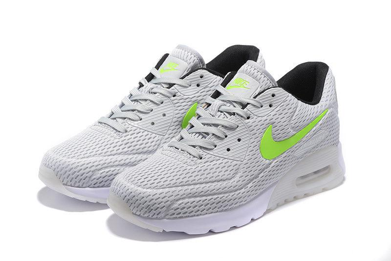 Nike Airmax 90 Ultra Pure Platinum Unisex Sneakers -Neon/Grijs/Groen