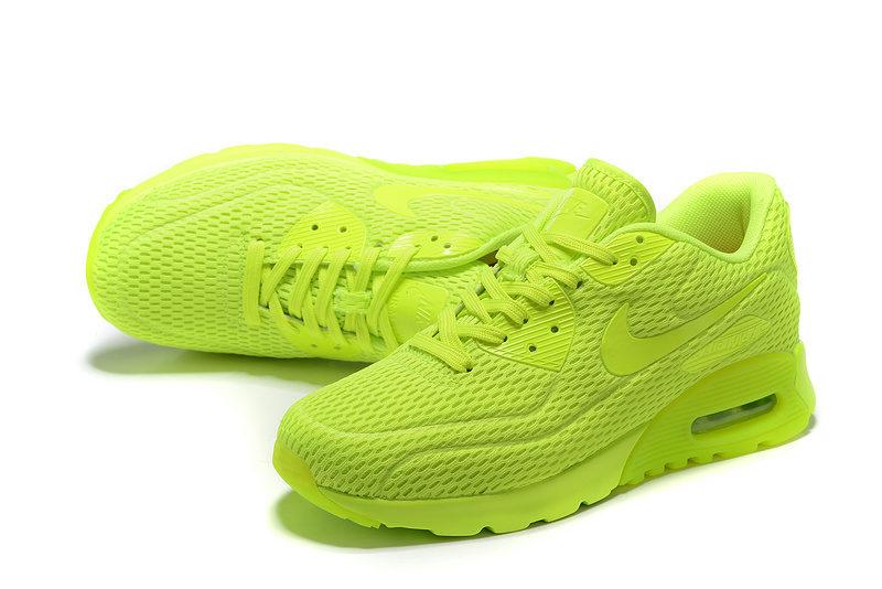 Nike Airmax 90 Ultra Pure Platinum Unisex Sneakers - Neon/Limoengroen