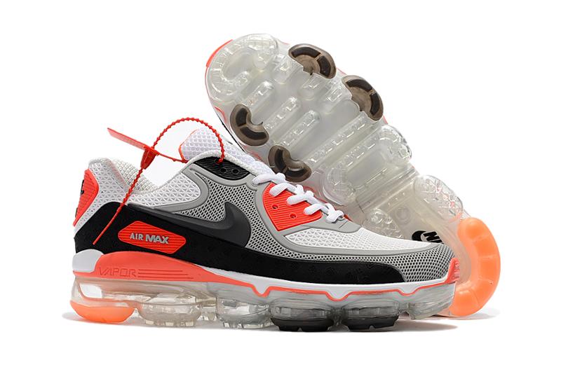 Nike Air Max 90 Vapormax Heren Sneakers – Wit/Grijs/Zwart/Oranje