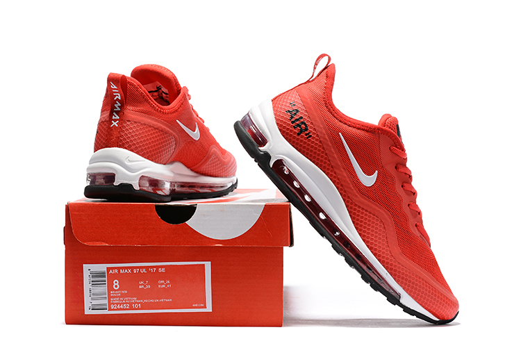 Nike Air Max 97 SE Heren Sneakers – Rood/Wit