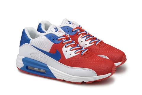 Nike Airmax 90 Premium Rood/Wit/Blauw