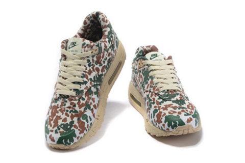 Nike Airmax One Ultra Essential Unisex Sneakers - Bruin/Beige/Groen/Leger