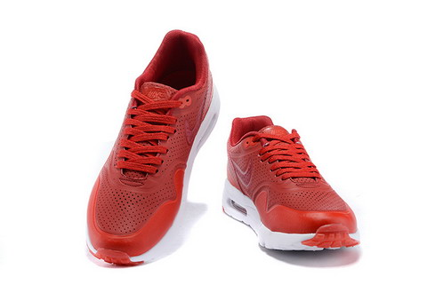 Nike Airmax One Ultra Essential Unisex Sneakers - Rood/Wit