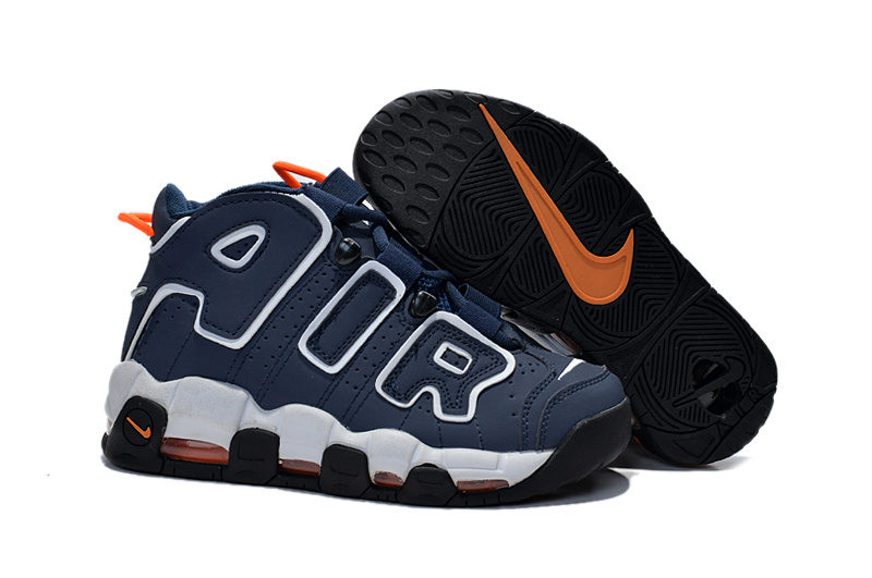 Nike Air More Uptempo 96 Kinder Sneakers - Blauw/Wit/Zwart