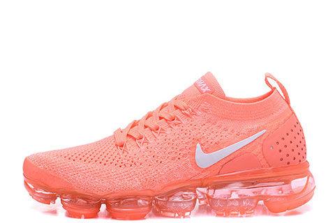 Nike Air VaporMax Flyknit 2 Dames Sneakers - Oranje/Wit