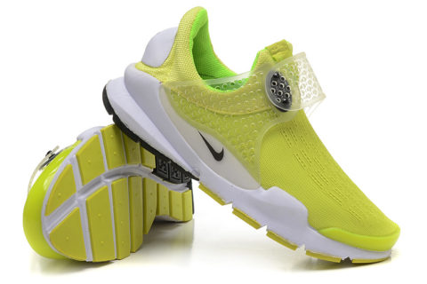 Nike Sock Dart Dames Sneakers - Geel/Wit