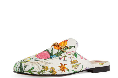 Gucci Princetown Dames Slippers - Wit/Roze/Geel/Groen