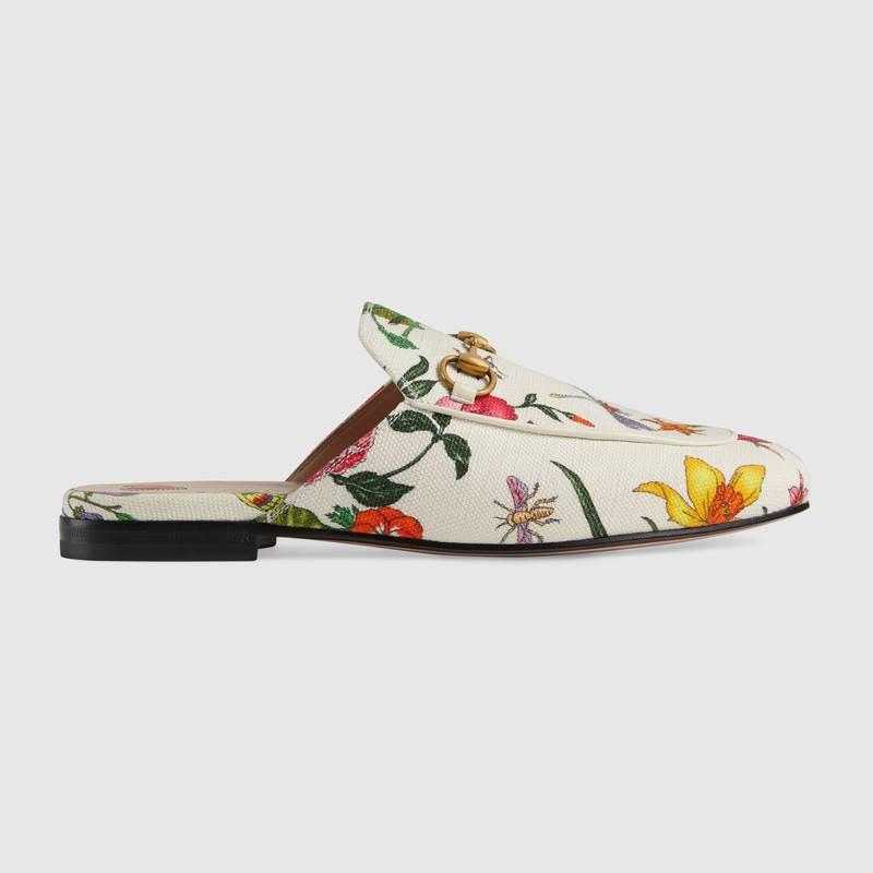 Gucci Princetown Dames Slippers - Wit/Roze/Geel/Groen