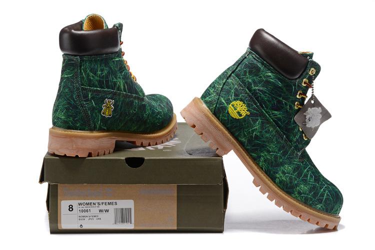 Timberland Premium Exclusieve Dames Laarzen - Groen/Bruin