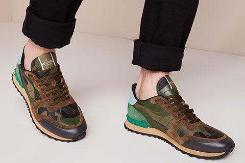 Valentino Garavani Camouflage Unisex Sneakers - Bruin/Beige/Groen