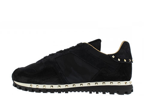 Valentino Garavani Camouflage Unisex Sneakers - Zwart/Wit