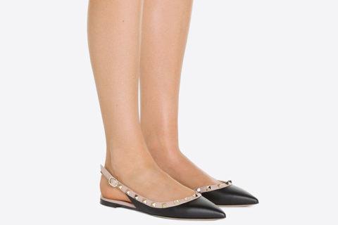 Valentino Garavani rockstud dames sandalen zwart