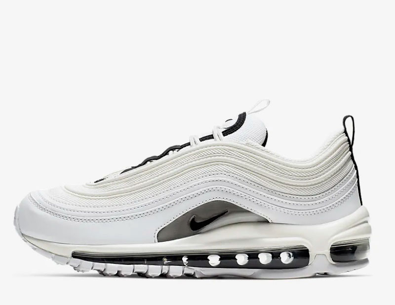 Nike air max 97 premium sneakers wit/zwart