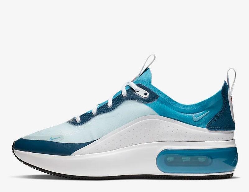 Nike air max dia se dames sneakers blauw/wit