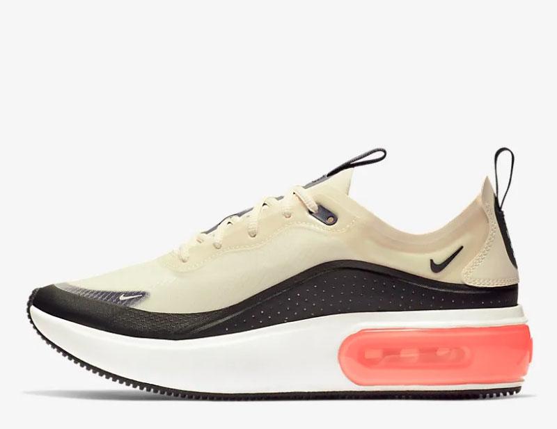 Nike air max dia se dames sneakers wit/zwart