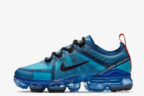 Nike Air VaporMax 2019 dames sneakers blauw/zwart