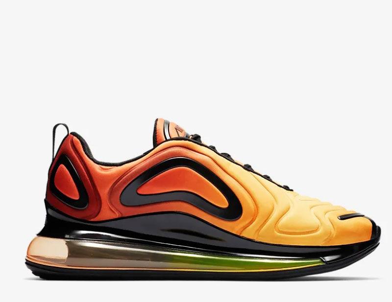 Nike air max 720 sneakers oranje/zwart