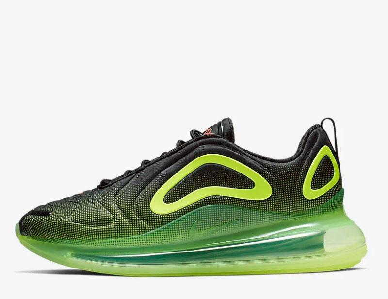 Nike air max 720 sneakers zwart/groen