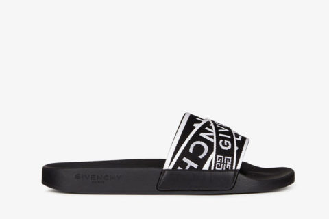 Givenchy Paris 4g Webbing slippers zwart/wit